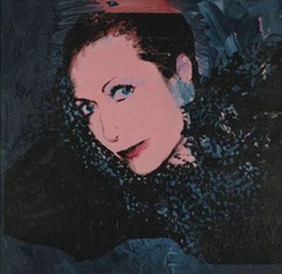 Hélène Rochas peinte par Andy Warhol