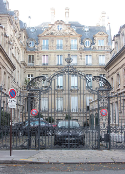 L'hôtel de Montigny - La façade donnant sur la rue Barbet de Jouy