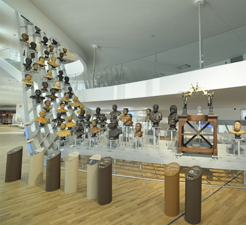 Le Musée de l'Homme - Les bustes représentant la diversité humaine