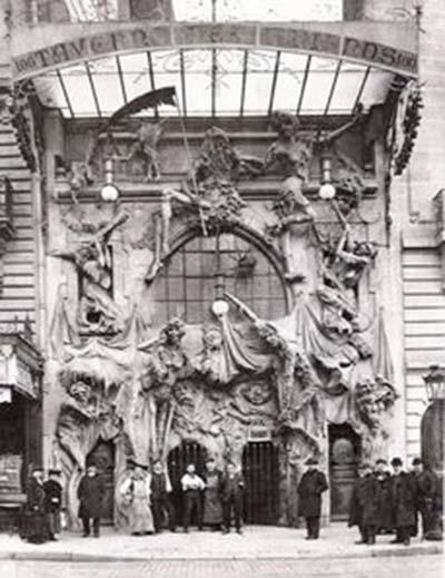 Le théâtre des Deux Anes - La façade d'origine