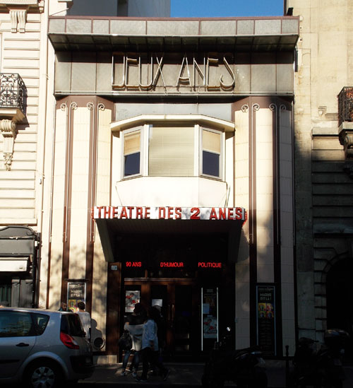 Le théâtre des Deux Anes - Façade actuelle