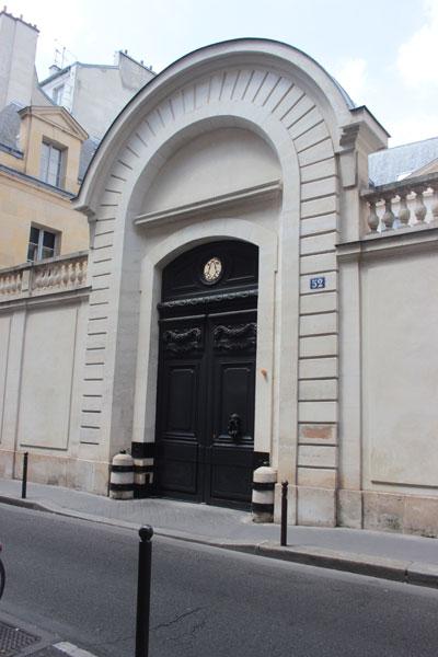 L'hôtel de Cavoye - Le portail