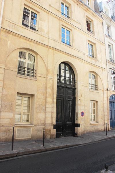 L'hôtel Mansart de Sagonne - Le bâtiment sur rue