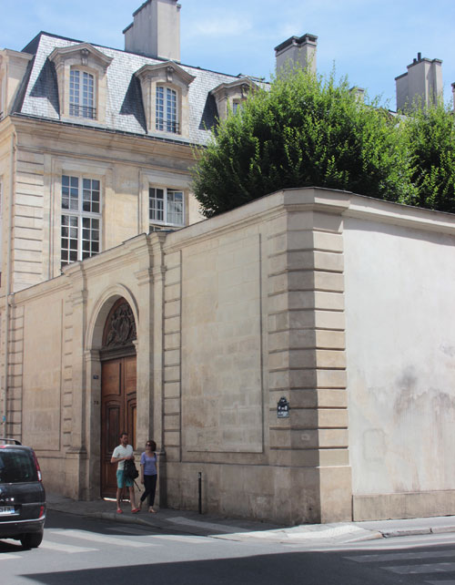 L'hôtel Tallard - Vue de la rue des Archives
