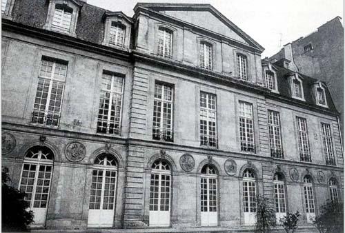 L'hôtel de Tallard - La façade sur le jardin