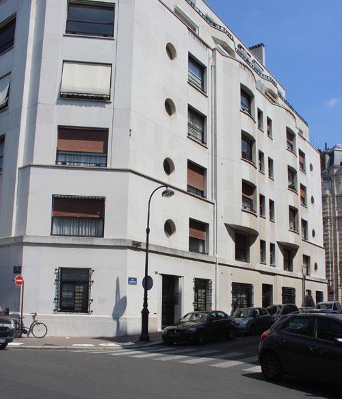 Immeuble d'habitation - Façade rue Eugène Labiche