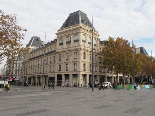 Les anciens Magasins Réunis République - Façade rue du Faubourg du Temple