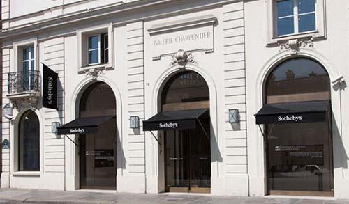 Sotheby's - La façade rue du Faubourg Saint-Honoré
