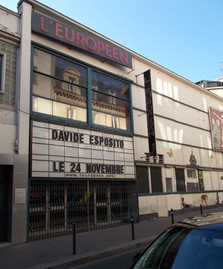 L'Européen - La façade rue Biot