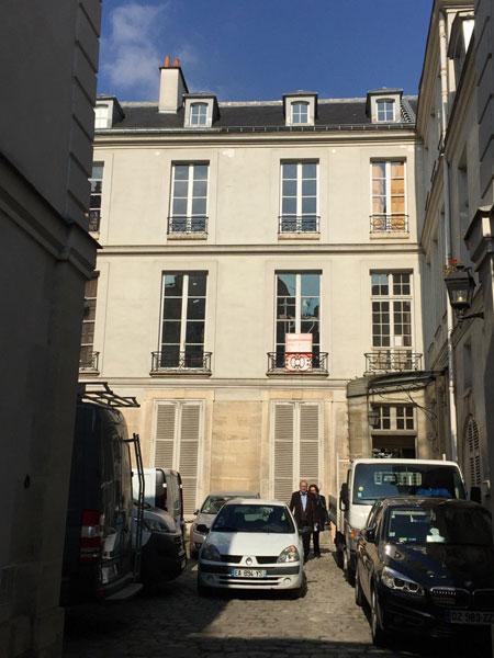 L'hôtel Séguier : la façade sur la cour