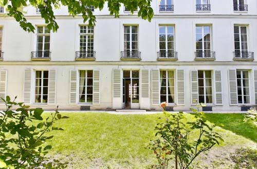 L'hôtel Séguier - La façade sur jardin