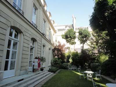 La résidence de l'ambassadeur de Belgique - Le jardin