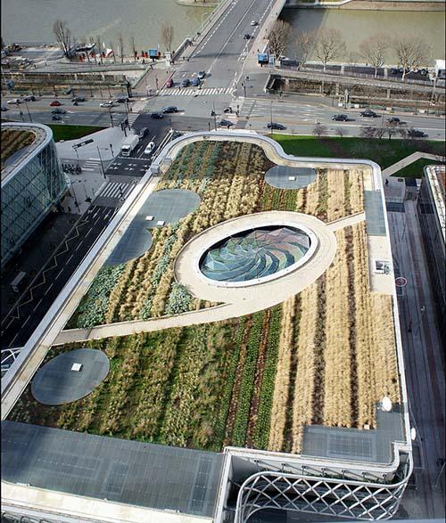 Le centre commercial Beaugrenelle - Le toit végétalisé