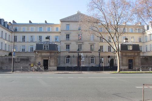 L'Institut national des jeunes aveugles - Façade sur la cour d'honneur