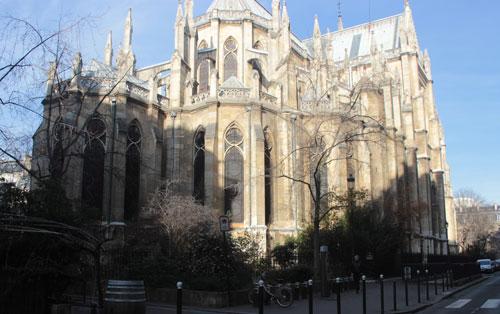 L'église Sainte-Clotilde vue du chevet