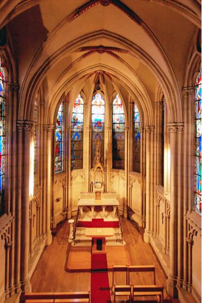 L'hôtel de Bourbon-Condé - La chapelle néo-gothique