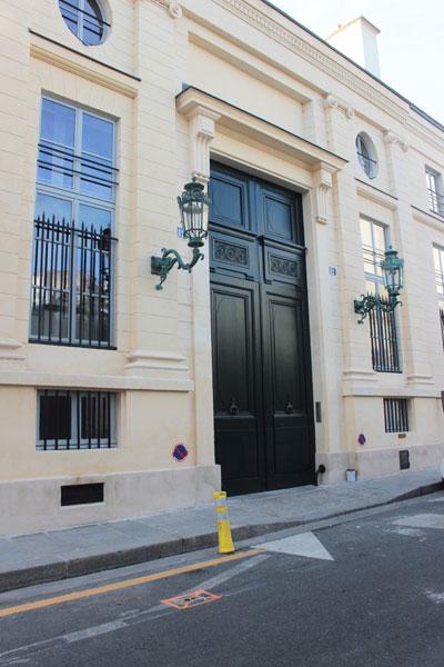 L'hôtel de Bourbon-Condé - Le portail