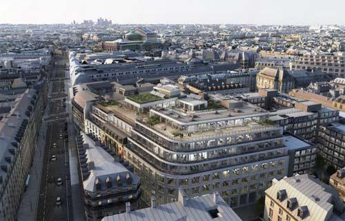L'immeuble #cloud Paris - Les terrasses offrant des vues sur la ville