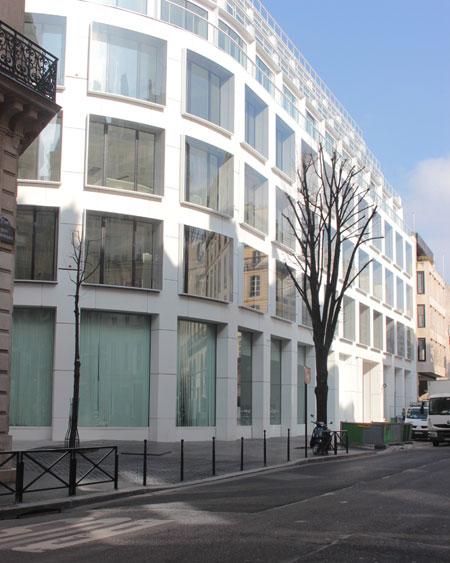 L'immeuble #cloud Paris - La façade rue de Richelieu