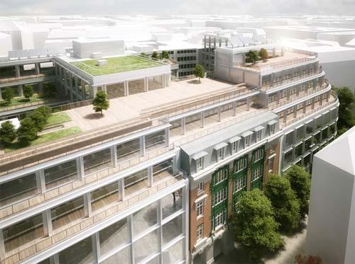 L'immeuble #cloud Paris  - Les parties supérieures et les terrasses