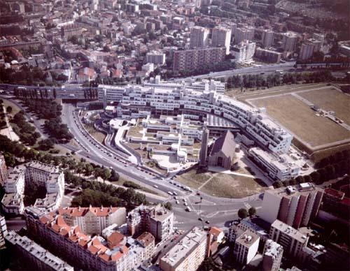 L'hôpital Robert Debré - Vue aérienne