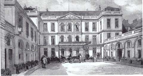 L'hôtel d'Estrees en 1896