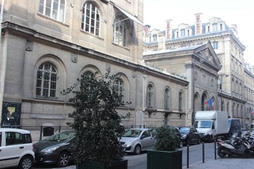 L'hôtel du Timbre - La façade sur la rue de la Banque