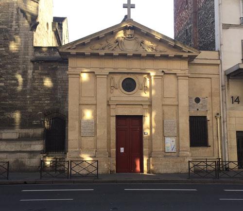L'église Saint-Denys de la Chapelle - La façade sur rue
