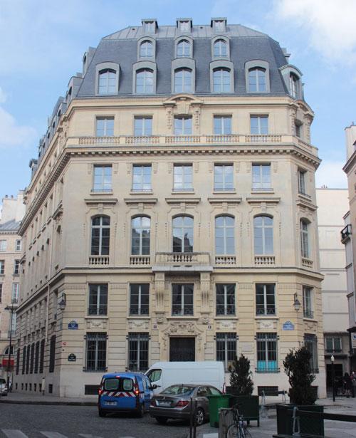 La banque Dreyfus - La façade rue des Petits-Pères
