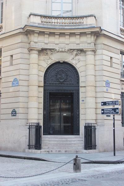 La banque Dreyfus - L'entrée rue de la Banque