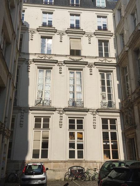 L'hôtel d'Aguessau : le logis en fond de cour reconstruit en 1714