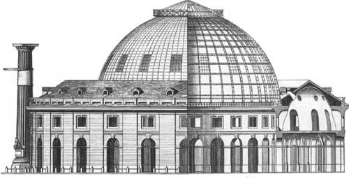 La Halle aux blés en 1809 - Coupole métallique de François Bélanger