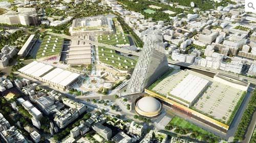 Le futur parc des Expositions et la tour Triangle