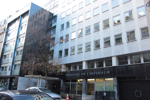 L'ex-siège de la banque Stern - A droite, le volume occupé par les bureaux