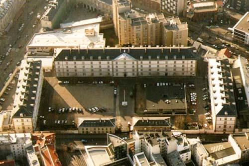 La caserne de Reuilly - Vue aérienne