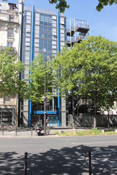 L'école Spéciale d'Architecture - Le nouveau bâtiment abritant à la fois l'Ecole Camondo et des locaux de l'Ecole Spéciale d'Architecture