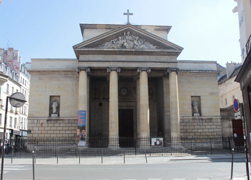 L'église Saint-Denys-du-Saint-Sacrement - La façade