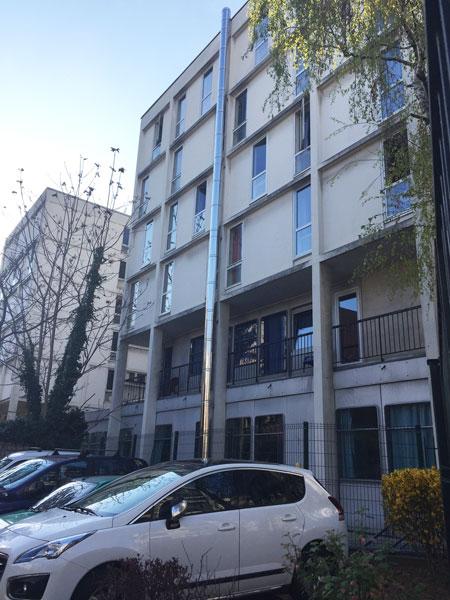 Foyer de jeunes de Charonne - Les chambres donnant sur la façade Est