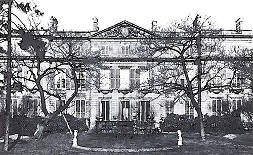 L'hôtel de Broglie : la façade sur le jardin