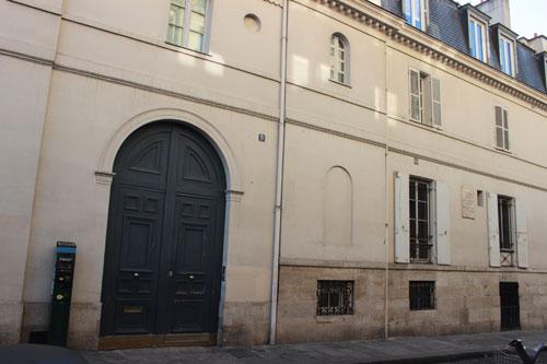L'hôtel Talma - La façade sur la rue Tour des Dames
