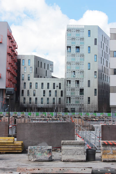 Immeuble de logements M9D4 - Vue de l'avenue de France