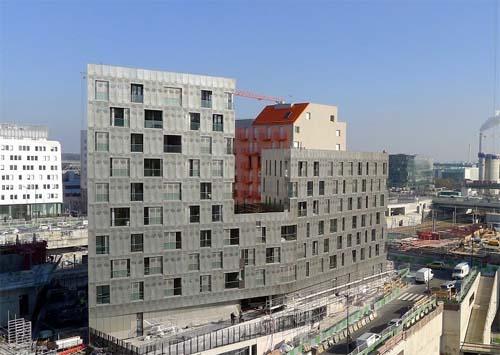 Immeuble de logements M9D4 - Façade Sud Sud-Est