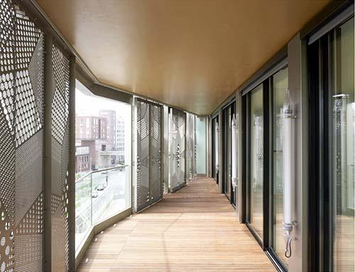 Immeuble de logements M9D4 - Une loggia