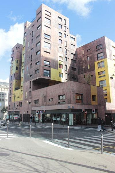 Logements sociaux - Vue de la rue Elsa Morante