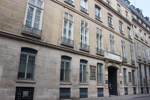 L'hôtel Bourgeois de Boigne - La façade donnant sur la rue
