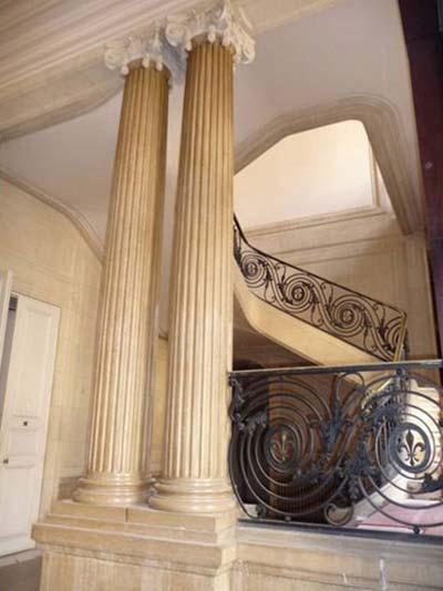 L'hôtel Kinsky - L'escalier d'honneur