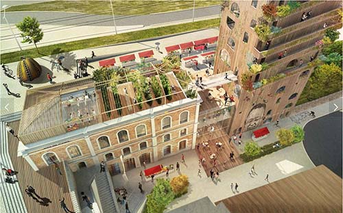 La nouvelle gare Massena : le projet en vue aérienne