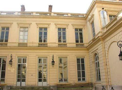 L'hôtel Kinsky - La façade sur la cour