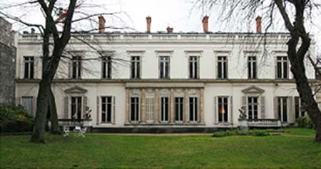 L'hôtel Kinsky - Façade sur le jardin