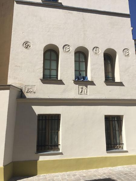 La cour de Venise - Détail d'une façade